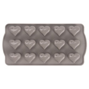 Sabichi Heart Shaped Chocolate Mould - Silicone Kitchen Baking Bakeware Cute