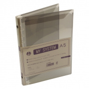 A5 size 6 hole Mai system binder (system notebook binder) HS58940 s smoke