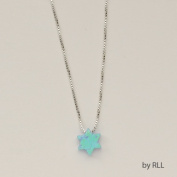 Rite Lite JPE-5019-B 4.9m Blue Opal Star Of David Pendant On Sterling Chain