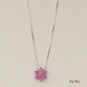 Rite Lite JPE-5019-P 4.9m Pink Opal Star Of David Pendant On Sterling Chain