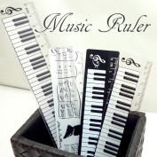 Miscellaneous goods stationery music piano sk-001 which the ruler keyboard pattern score pattern scale lets you expand, and is interesting