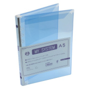 A5 size 6 hole Mai system binder (system notebook binder) HS58940 s blue