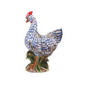 "18.5"" Country Chic Denim Blue and Marshmallow White Decorative Rooster"