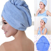 Soft Relaxing Comfort Special Dry Hair Towel Blue