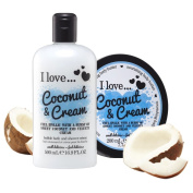 I Love… Coconut & Cream Shower Gel and Body Butter Duo Pack
