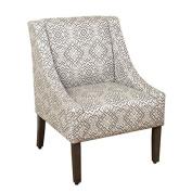 HomePop Swoop Accent Chair in Tonal Grey
