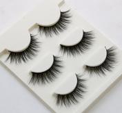 BrandChef(TM) Pure Hand Cotton Thread False Eyelashes Messy Soft Natural Thick Fake Eyelashes 3D Three Dimensional Makeup Tools Eyelashes