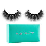 Wleec Beauty 3D Mink Fur Fake Eyelashes Handmade Long Thick Reusable Strip Lashes