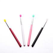 Kinghard 4pcs Silicone Makeup Brush Cream Concealer Blush Eye Shadow Gel Lip Brushes Tool