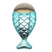 Becoler Fish Scale Makeup Brush Fishtail Bottom Brush Powder Blush Makeup Cosmetic Brush