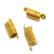 Mixed Dread Lock Dreadlocks Gold Plated Twist To Fit Hair Decoration Accessory 3 PCS in 1 package-Stretchable Size Free