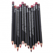 Becoler 12 PCS Waterproof Lip Liner Pencils Long Lasting Lipliner Makeup Tools