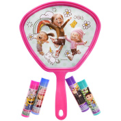 Townley Girl Despicable Me 3 Super Sparkly Lip Gloss Set for Girls, 4 Yummy Flavours with Mirror