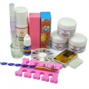 Coscelia Acrylic Nail Art Powders Liquid Nail Files Tools For Manicure Pedicure