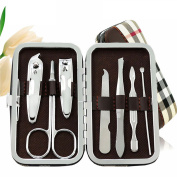 Manicure Pedicure Set Nail Clippers - JamHoo 7 in 1 Stainless Steel Hygiene Kit - Toenail Clippers Includes Cuticle Remover with Portable Travel Case Beauty Care Tools