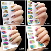 18Pcs Nail Art Sticker Polish Gel Foils Bronzing Gold Silver Stickers Nail Decal DIY Tips Blingling Glitter Decoration With Nail File