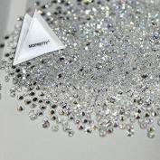 MOPRETTY New 1440Pcs Ultra Mini 1.2mm Diamond Shining Diy Rhinestones Crystal Rhinestones Need Glue Phone & Nail Art Decoration Clear + 1 FREE Triangle Plate