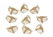 Zink Colour Nail art Gold Wild Fox Metal Decal 10 Piece Embellishment