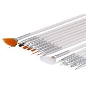 Nizi Jewellery Professional Nail Art Brush For Natural False And 3D Beauty Brush 15Pcs/set Nail Art Polish Painting Draw Pen Brush DIY Tools