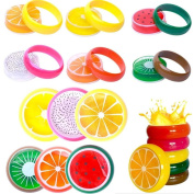 Sinwo 6PC Crystal Fruit Clay Rubber Mud Intelligent Hand Gum Plasticine Slime Kid Toys Funy Slime Toy Mud Toy