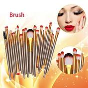 By Bike B55 20 pcs Makeup Brush Set tools Make-up Toiletry Kit Wool Make Up Brush Set