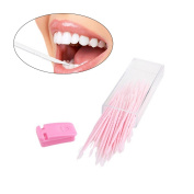 ROSENICE Dental Tooth Pick 50pcs Portable Interdental Brush Plastic Oral Toothpicks with Case
