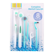 MSmask Oral Care Kit Dentist Pick Tooth Mirror Teeth Toothbrush Set Tool Health Basic Useful 8 Pcs