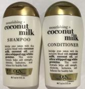 Ogx Nourishing Coconut Milk Shampoo & Conditioner Travel Size - 90ml Each