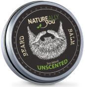 NATUREALLY YOU© - Beard Balm - Unscented - (60ml) - Condition, Smooth, Soften, Tame, Remove Beard Itch