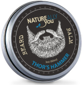 NATUREALLY YOU© - Beard Balm - Thor's Hammer Scent - (60ml) - Condition, Smooth, Soften, Tame, Remove Beard Itch