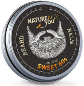NATUREALLY YOU© - Beard Balm - The Sweet 60s Scent - (60ml) - Condition, Smooth, Soften, Tame, Remove Beard Itch