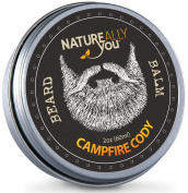 NATUREALLY YOU© - Beard Balm - Campfire Cody Scent - (60ml) - Condition, Smooth, Soften, Tame, Remove Beard Itch