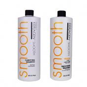 Keragen, Hair Smoothing Keratin Treatment Chocolate 950ml Regular and Clarifying Shampoo 950ml Combo Set
