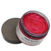 VOLLUCK Red Hair Wax Pomades 130ml - Disposable Natural Hair Styling Clays Ash, Easy Cleansing