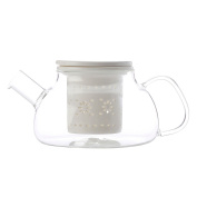 Maxwell & Williams Lille Glass Teapot with Infuser White 700ml