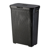 Olvera Laundry Basket Black 50 Litre