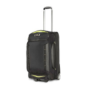 High Sierra Wheeled Upright Duffle Black & Zest 66cm