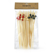 Dress My Cupcake Skewer with Beads Natural 12cm 30 Piece