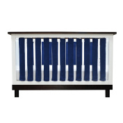 PURE SAFETY Vertical Crib Liners 2 Pack in Luxurious Navy Minky