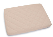 Waterproof Quilted Pack n Play Sheet | Mini Crib Sheet | All in one Mattress Pad Cover and Sheet , Cream