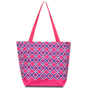 Zodaca Large All Purpose Travel Tote Bag, Purple/Pink Times Square