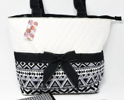Rosenblue Black and White Aztec Nappy Bag
