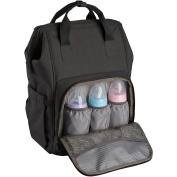 Ferlin Wide Open Design Baby Nappy Bag Backpack with Changing Pad & Insulated Pockets for Both Mom & Dad