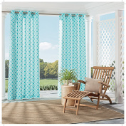 Parasol 15932052095TUQ St Kitts Indoor/Outdoor Curtains,Turquoise,52x95