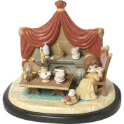 Precious Moments 164046 You're The One I've Been Waiting for Bisque Porcelain Sculpture on Wooden Base Masterpiece 4th Edition Disney Showcase Collection, Multicolor
