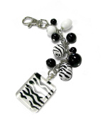 Linpeng Multi-Purpose Keychain with Painted Beads Dangles & Square Drop