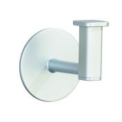 InterDesign Metro Rustproof Aluminium Self-Adhesive Bathroom Hook for Towels, Robes - Silver