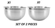 King International Stainless Steel German Bowls , Set Of 2 Pieces , 30 cm