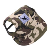 Sumen Summer Canvas Lovely Hat Puppy Visors Caps For Small Medium Dogs Cats Unisex S,M