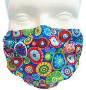 Breathe Healthy Face Mask for Dust, Allergy & Flu; Adjustable Ear Loops, Washable Antimicrobial; Medallions Design